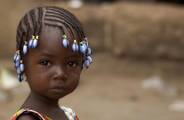 Africa | The photographer has called this portrait ~ Blue Pearls ~ and is part of a larger collection of portrait photos that she took in Africa.