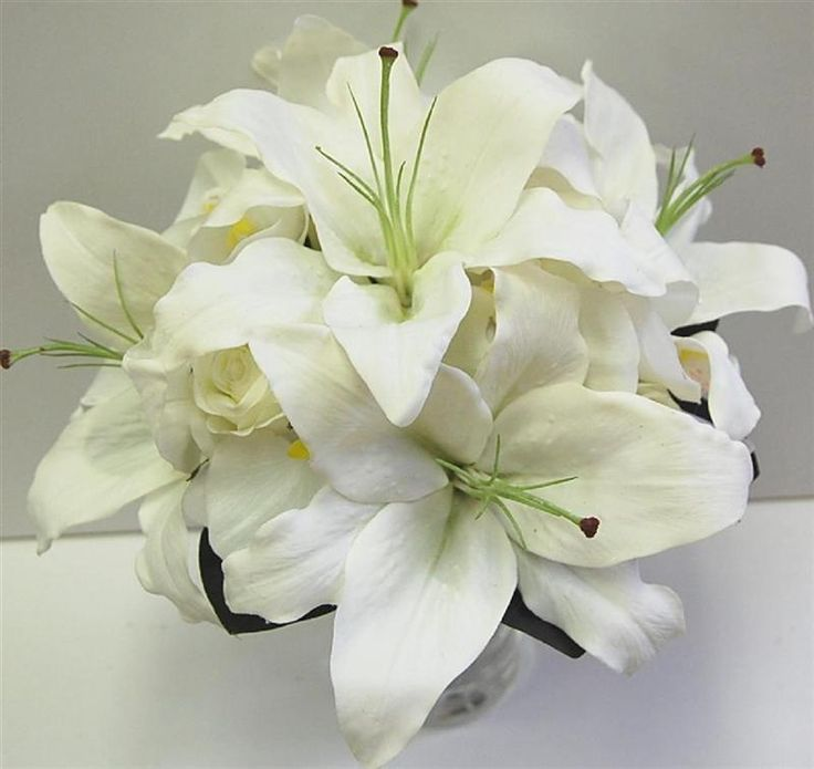 White Lily Wedding Bouquet