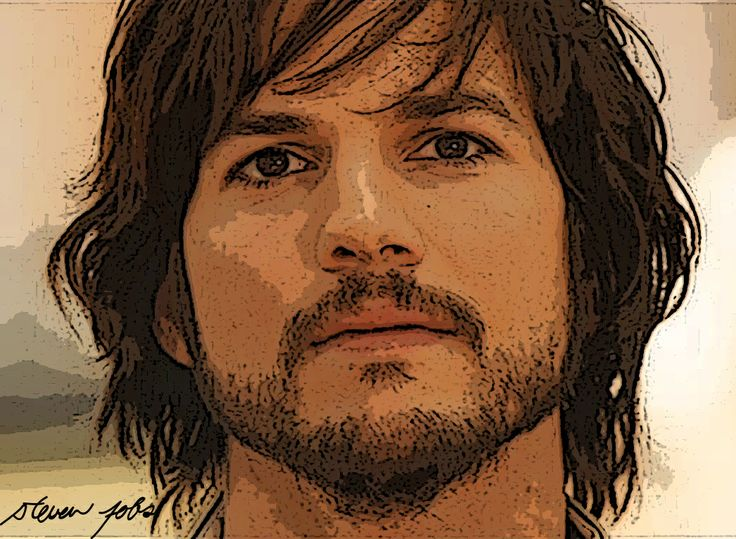 #AshtonKutcher as Steve Jobs -drawing- #aplusk