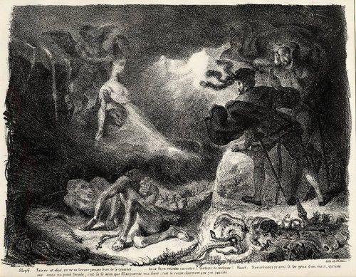 walpurgisnacht | Eugène Delacroix, Walpurgisnacht, Faust beholds an apparition of ...