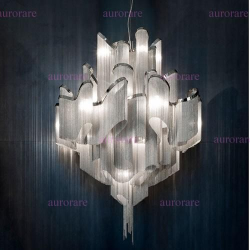 Terzani Stream Suspension Light Aluminum Chain Chandeliers Modern Novelty Lighting Fixture Aluminum Pendant Lamp Chain Chandelier Pendant Lamp Holder Diy Pendant Lamp From Aurorare, $843.57| Dhgate.Com