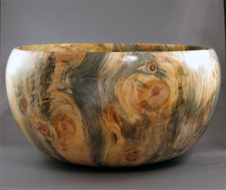 Reclaimed wood bowl from pine stump