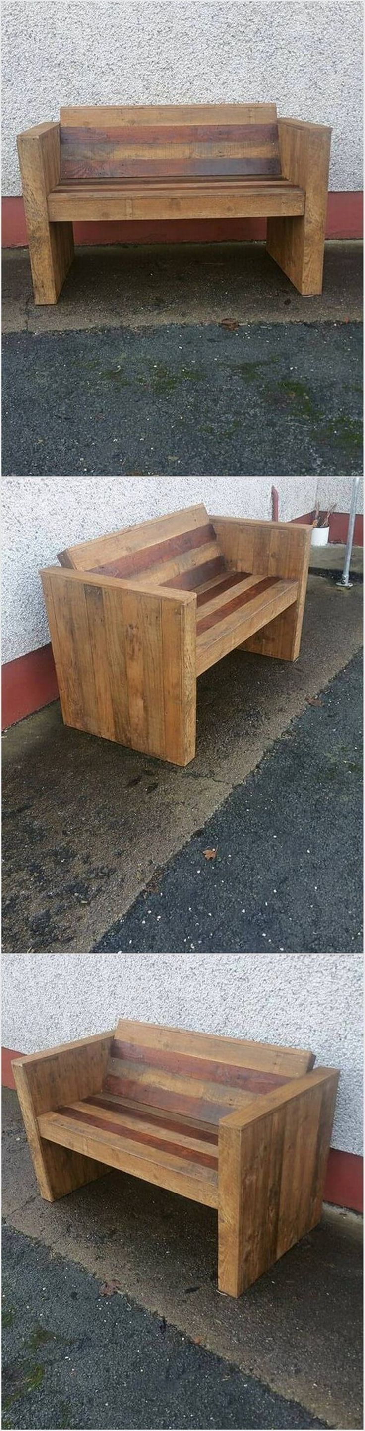 Recycled Pallet Bench 124 best Pallet Furniture