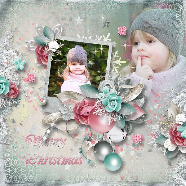 """Congrats to anny-libelle. Her amazing layout, """"Magic Christmas"""" was voted as this week's Layout of the Week at Pickleberrypop!"""