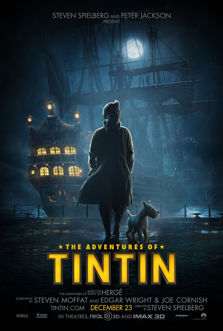 The Adventures of Tintin is a 2011 American 3D motion capture adventure film based on The Adventures of Tintin, a series of comic books created by Belgian artist Hergé (Georges Remi). Directed by Steven Spielberg, produced by Peter Jackson, and written by Steven Moffat, Edgar Wright and Joe Cornish, the film is based on three of the original comic books: The Crab with the Golden Claws (1941), The Secret of the Unicorn (1943), and Red Rackham's Treasure (1944).
