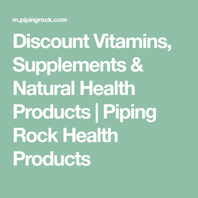 Discount Vitamins, Supplements & Natural Health Products | Piping Rock Health Products