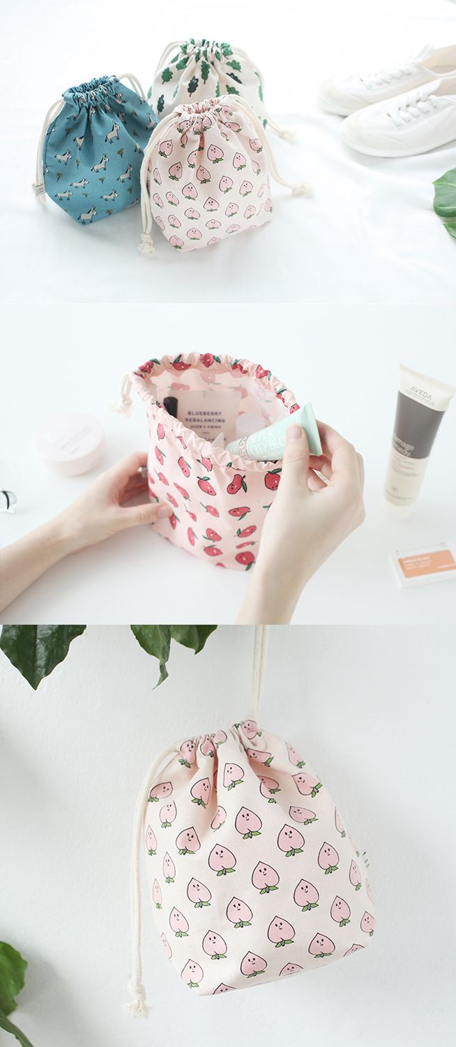 How cute!! This adorable JAM JAM Drawstring Pouch is the perfect little size for storing everything from makeup to craft supplies, toiletries, and more! Check out this cutie on our site!