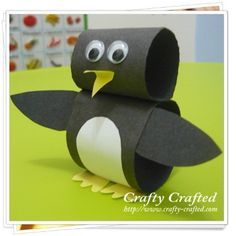 Paper Loop Penguin, using this same concept, you could make an owl, or nearly anything! Use in kids classes at the shoppe.