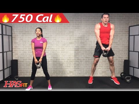 45 Min HIIT Kettlebell Workouts for Fat Loss & Strength - Kettlebell Workout Training Exercises - YouTube