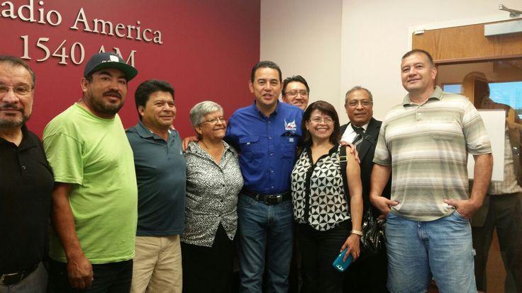 Jimmy Morales, de gira por EE.UU. y se reúne con guatemaltecos