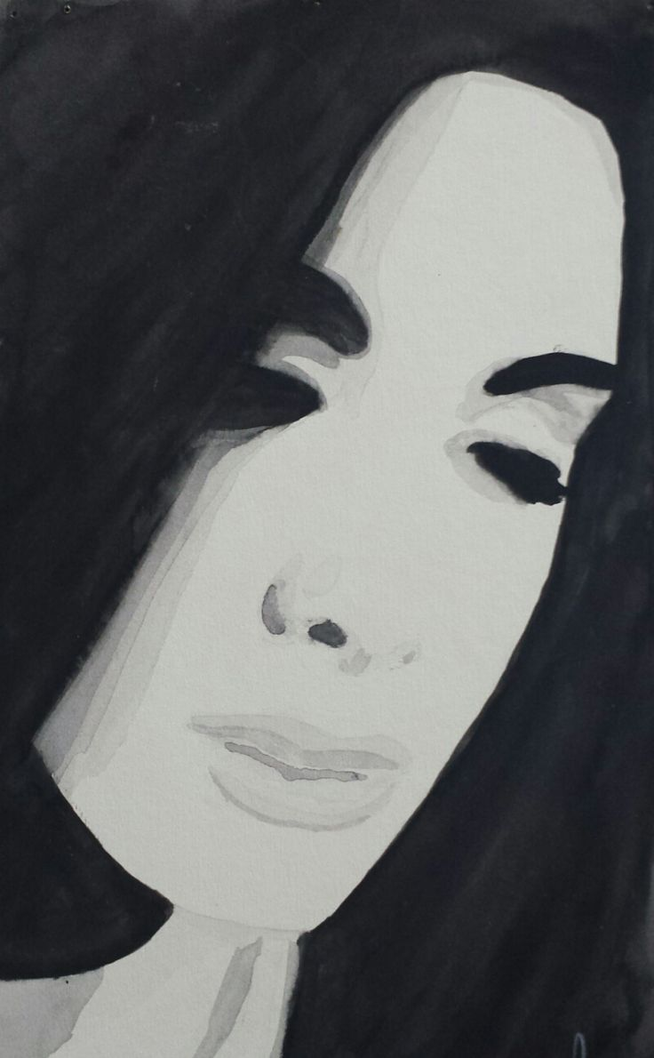 Portrait of Woman By Suzanna Dénes - Watercolor Painting (1996)