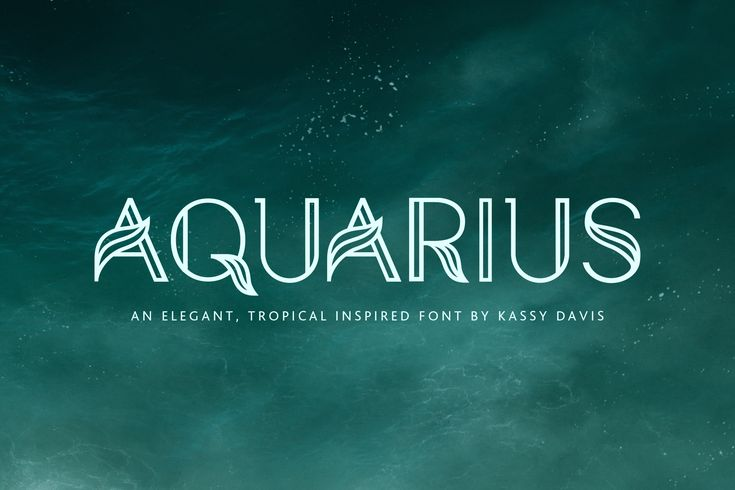 Aquarius – A Tropical & Elegant Font Family