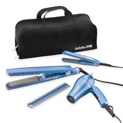 "BaByliss® PRO Nano™ 1"" Titanium Straighteners and Dryer Pack - BedBathandBeyond.com"