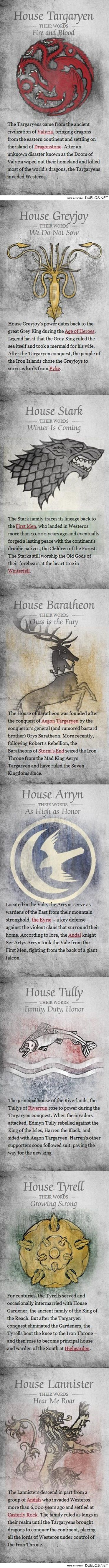 25 Reasons to Watch Game of Thrones History of houses of Game of Thrones - we post these as posters around house! OR we have a station for each major house with food and drink they would have!