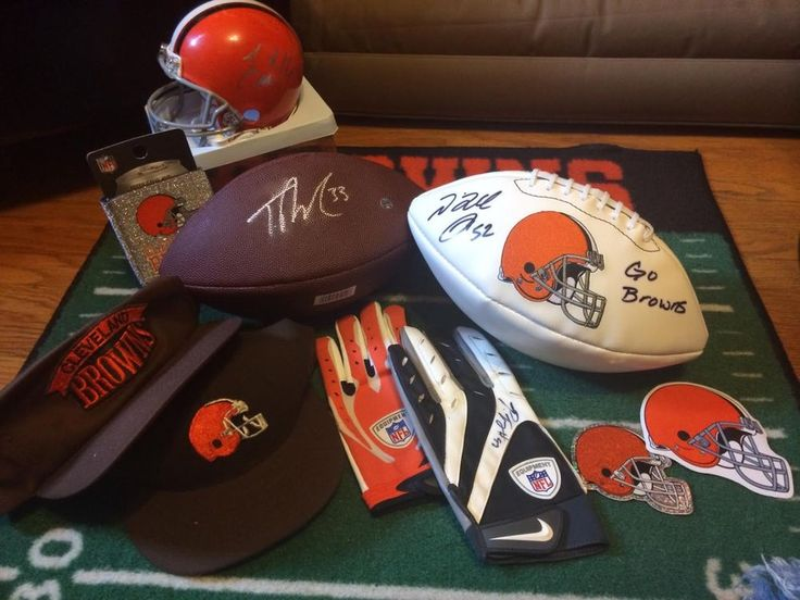 cleveland browns game used / worn autograph memorabilia lot from $150.0