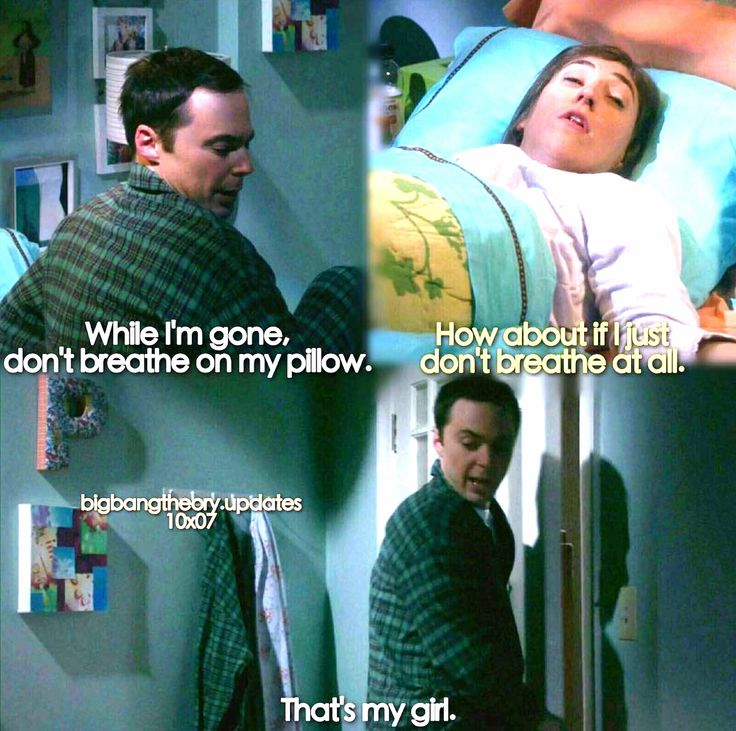 """While I'm gone, don't breathe on my pillow"" - Sheldon and Amy #TheBigBangTheory (by bigbangtheory.updates)"