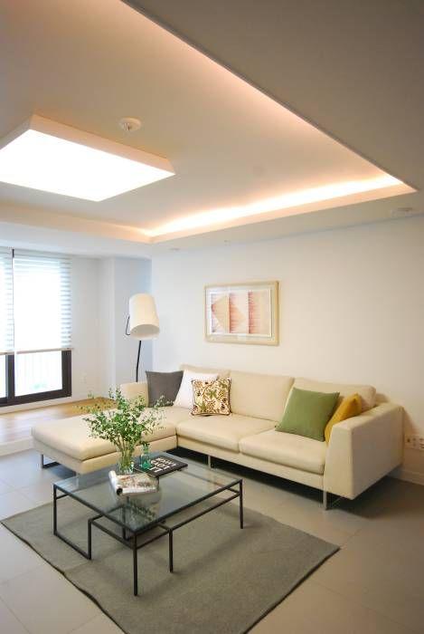인테리어 디자인 아이디어, 내부 개조 & 리모델링 사진  거실, 집 ...