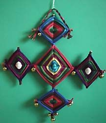 """Ojo de Dios """"God's Eye"""" craft for kid's lesson.  """"The eyes of the LORD are everywhere, keeping watch on the wicked and the good."""" Proverbs 15:3"""