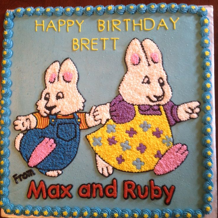 Max And Ruby Bake A Birthday Cake