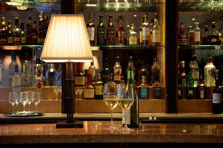 A fully stocked bar