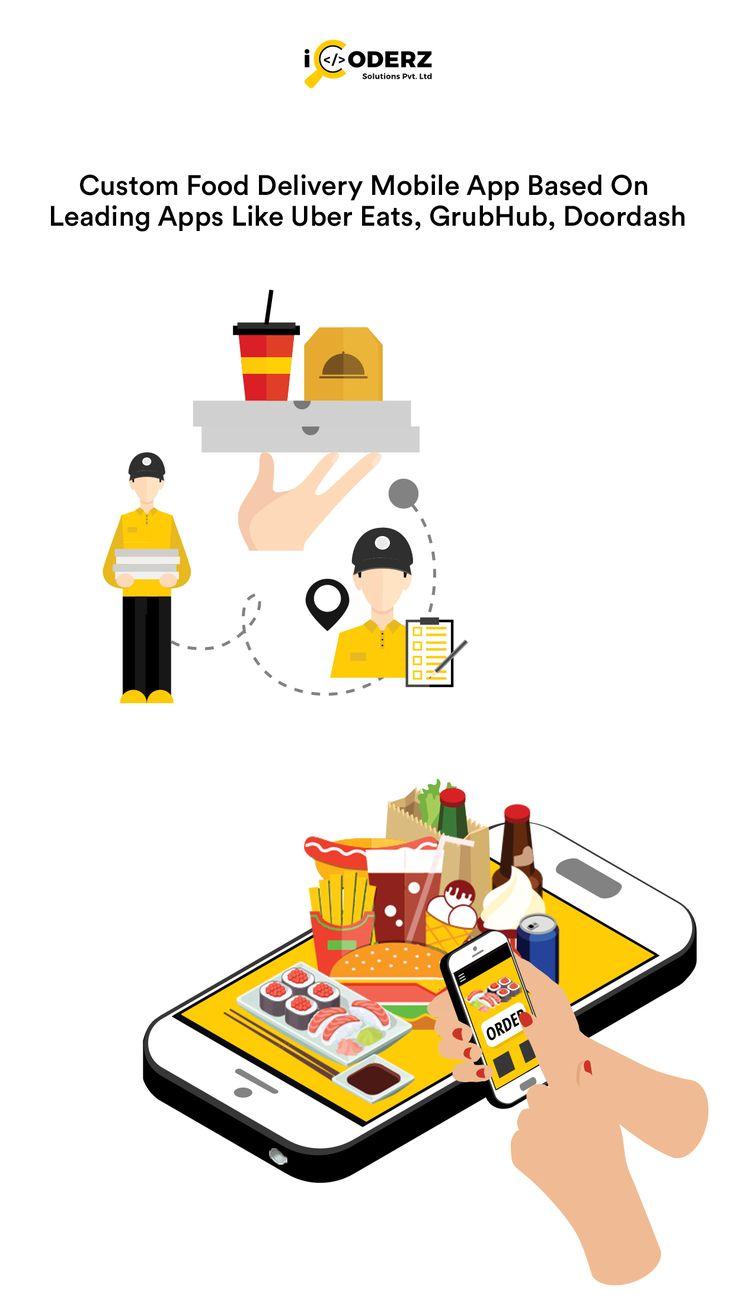 Custom food delivery mobile app based on leading apps like