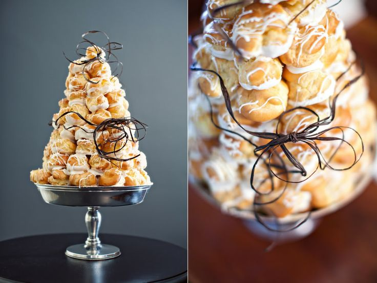 §§§ : Croquembouche : profiteroles layered in caramel