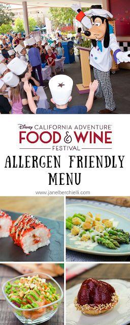 2018 Disney California Adventure Food & Wine Festival Allergen Friendly Menu Options
