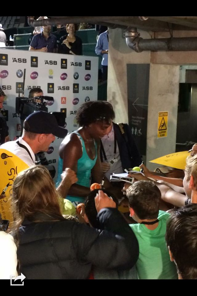 Up close & personal with a Tennis Legend, Venus Williams. ASB Classic Auckland 2015