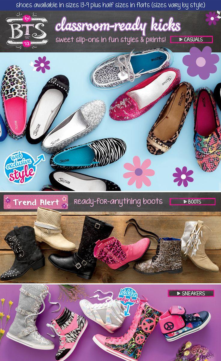 Sale at Justice : 20% off Shoes for Back To School, Today Only from 10am-10pm EST. Shop now: http://www.mycoupons.com/store/shopjustice.com?myc_ca=Pinterest_adg=Clothes-Shoes_kw=Justice_mt=e_de=c_campaign=Pinterest_source=Myc_medium=Pinterest_term=Justice