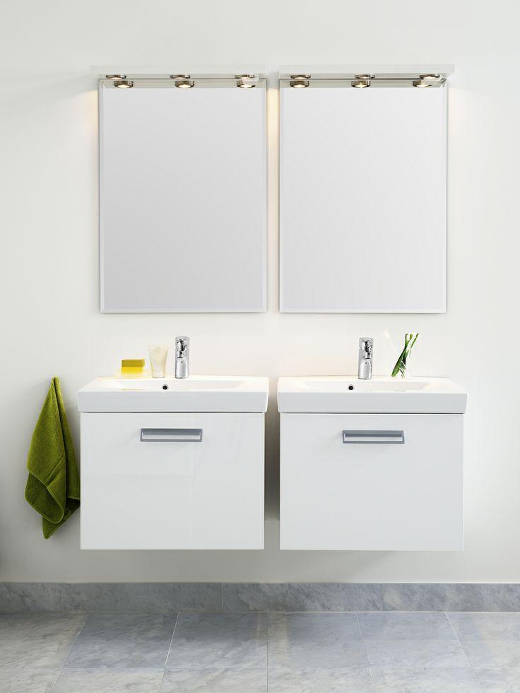Tvättställ för bänkskiva från Logic i färgen Perfect White. | GUSTAVSBERG