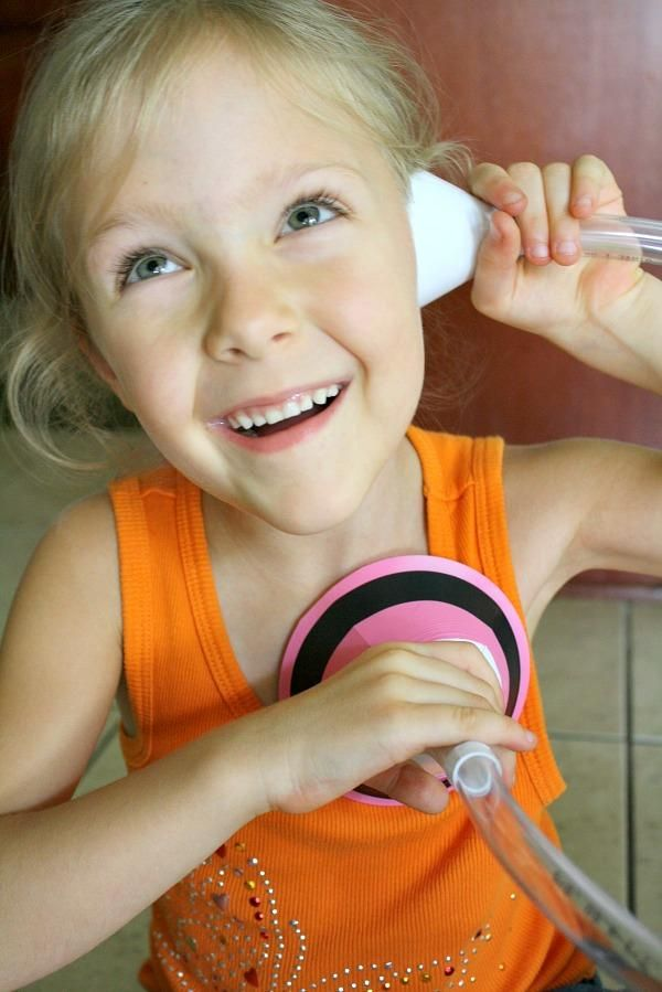 DIY Stethoscope Tutorial - Fun for preschool science and pretend play