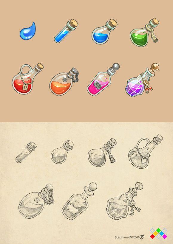 Je vous livre ici des icônes que j'ai créés pour un autre jeu développé cette fois chez Amayasoft: Element Rush. Le thème développé est l'alchimie et le gameplay proche de celui de Candy Crush. Le jeu devrait être disponible sur mobile et tablette dès...