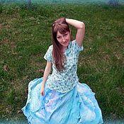 """Одежда ручной работы. Ярмарка Мастеров - ручная работа """"Бриз"""". Юбка женская шёлковая.. Handmade."""
