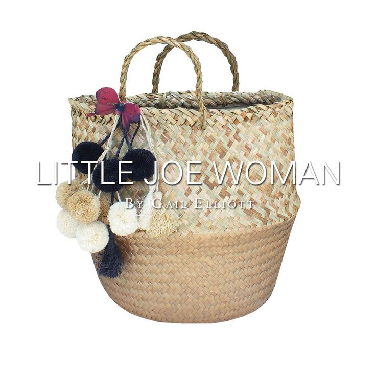 BEACH BABY!! Pom-poms & butterflies || Available NOW! www.LittleJoeWoman.com