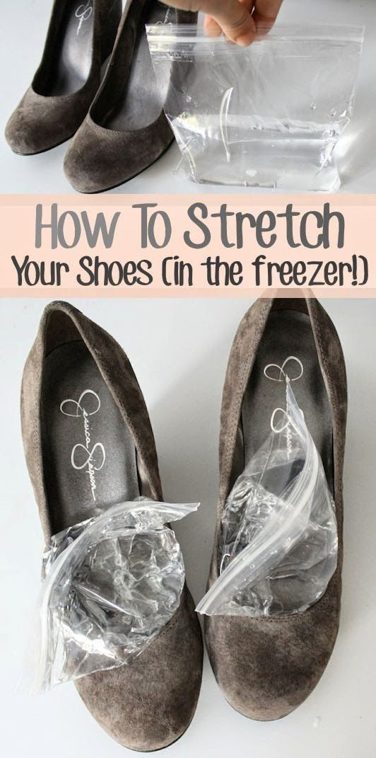 Another how to stretch your shoes in the freezer