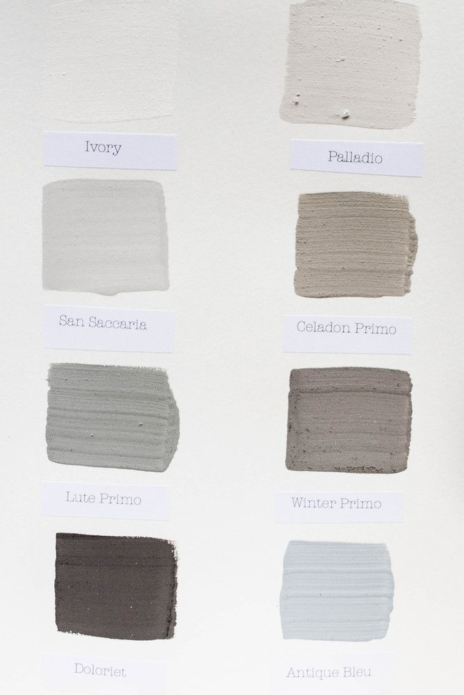 Kalklitir - Color Sample Cards #1 Kalklitir's lime paint finish New to the US, Kalklitir Natural Lime Wash from Sweden is offered in a small but gorgeous collection of colors from Komedal Road of Bainbridge Island, Washington.