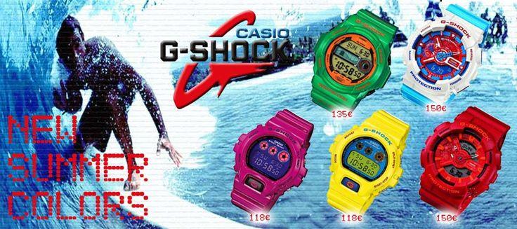 Ανακαλύψτε τα ΝΕΑ καλοκαιρινά ρολόγια CASIO G-SHOCK! Δείτε όλη τη συλλογή μόνο στο OROLOI.GR!  http://www.oroloi.gr/index.php?cPath=279