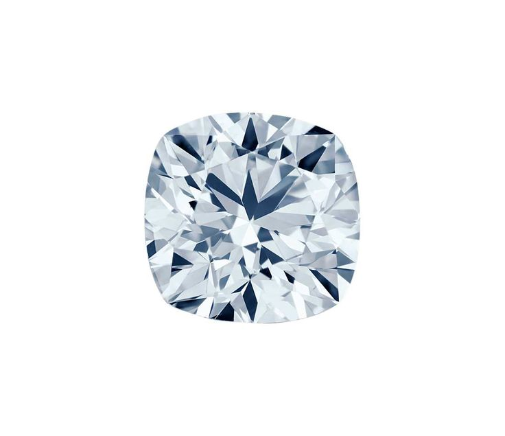 0.50-Carat Light Greenish Blue Cushion Cut Diamond | Blue Nile