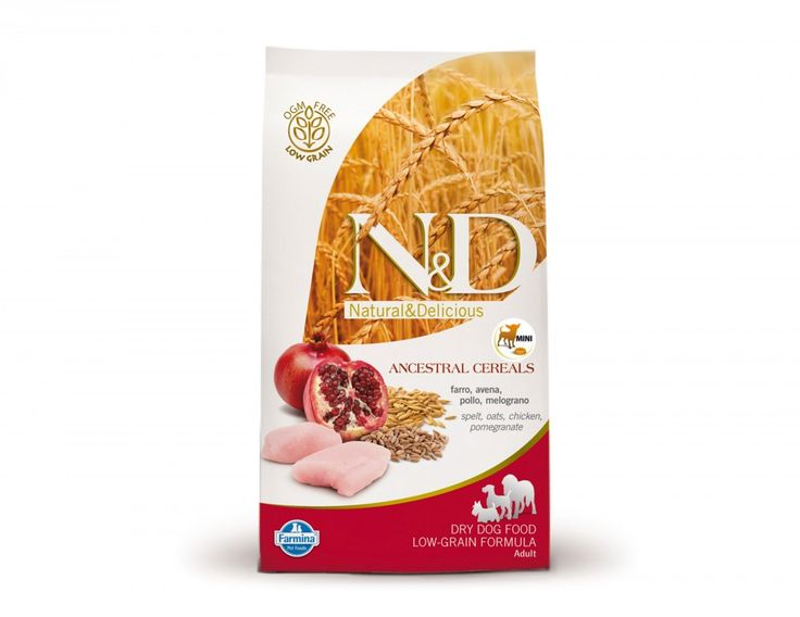 Shop #NaturalandDelicious Low Grain Chicken and Pomegranate Adult Mini #DryDogFoods Online at Petwish.in available with home delivery across in India.