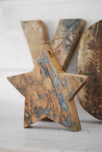 Simple upcycled Christmas star decoration. #upcycledchristmasdecorations