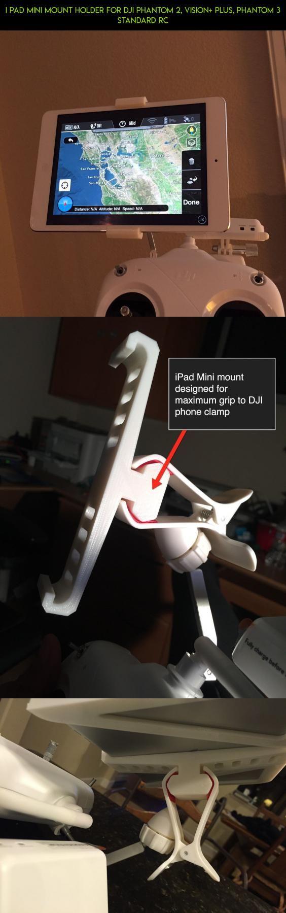 i Pad Mini mount holder for DJI Phantom 2, Vision+ Plus, Phantom 3 Standard RC #3 #racing #camera #gadgets #technology #tech #holder #drone #plans #fpv #products #parts #kit #dji #shopping #phantom #standard