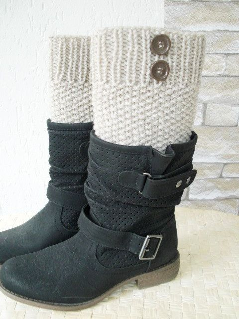 Boot Cuffs  Boot Leg warmers    Legwarmers  Knit  Boot by Ebruk