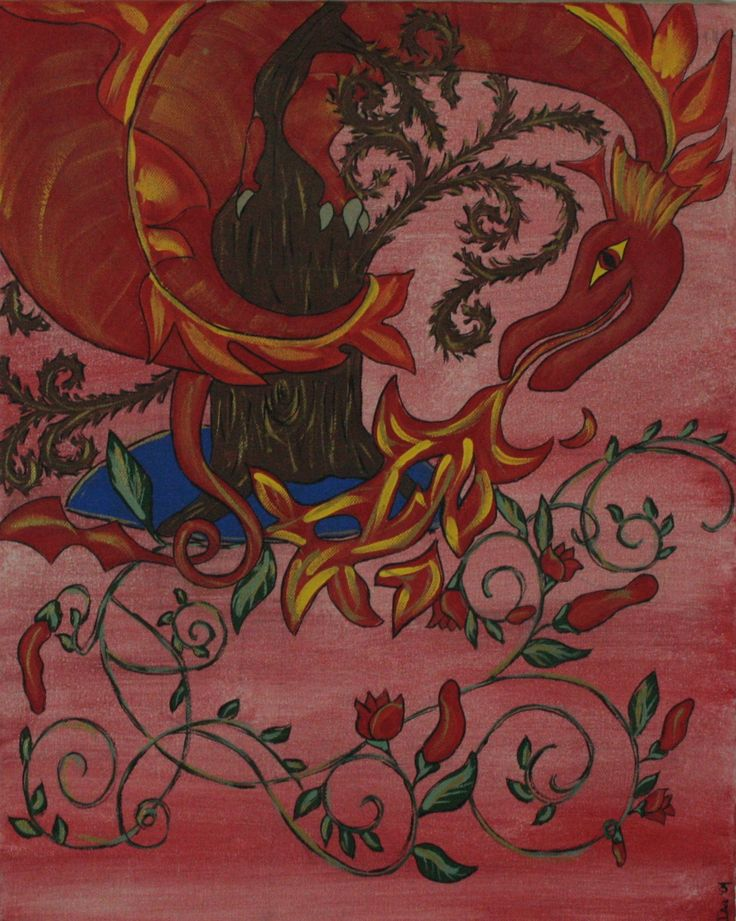 """""""Red Dragon"""" Acrylic on canvas"""