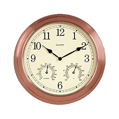 Chaney Copper 13.5 in. Outdoor Wall Clock   from hayneedle.com