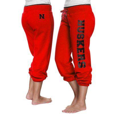 Nebraska Cornhuskers Ladies Glimmer Capri Pants - Scarlet