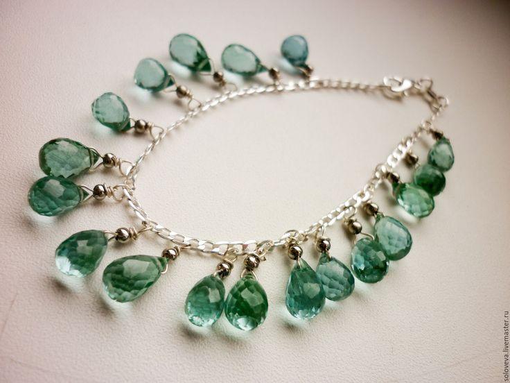 """Купить Серебряный браслет """" Проливной дождь"""" - морская волна, серебряные украшения, серебряный браслет"""