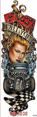 Einmal-Tattoo Temporary Tattoo wasserdicht 450*160mm Neu Sleeve tat20  #bracelets #emerald #sapphire #rubin #olivias #smaragd #ruby #designer #earrings #semipreciousstones
