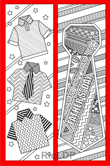 Coloring bookmarks as gifts for Fathers #coloringbookmarks #father