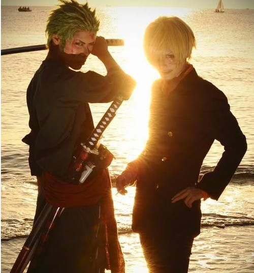 Sanji and Zoro cosplay ohmygodzoro