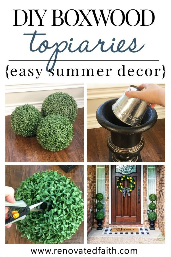 The Easiest Diy Topiary Trees On A Budget Topiary Decorating Ideas Outdoor Topiary Topiary Topiary Trees